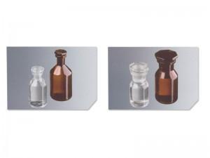 04-Frascos de vidrio con tapas esmeriladas